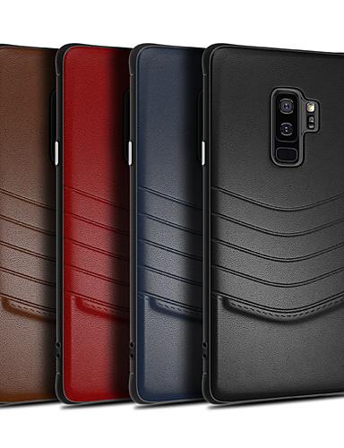 Кейс для Назначение SSamsung Galaxy S9 / S9 Plus / S8 Plus Защита от удара Кейс на заднюю панель Однотонный Твердый Кожа PU
