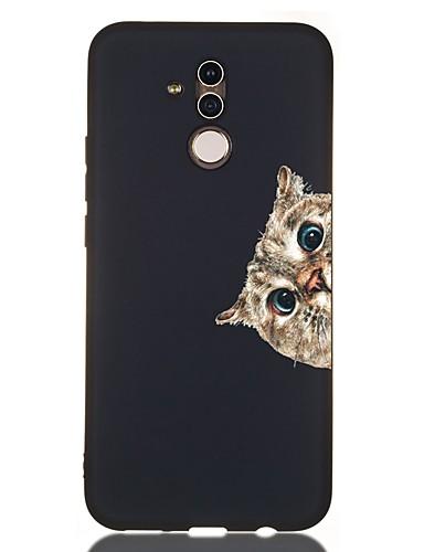 Huawei onur için kılıf 10 / onur 10 lite / onur 9 lite darbeye dayanıklı / buzlu / desen arka kapak kedi tpu yumuşak için huawei onur için 8a / onur v9 oyun / arkadaşı 20 lite / arkadaşı 20 pro /