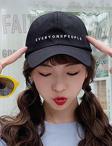 Unisex Actif Temel sevimli Stil Pamuklu Baseball Şapkası Zıt Renkli Tüm Mevsimler Siyah Beyaz Bej