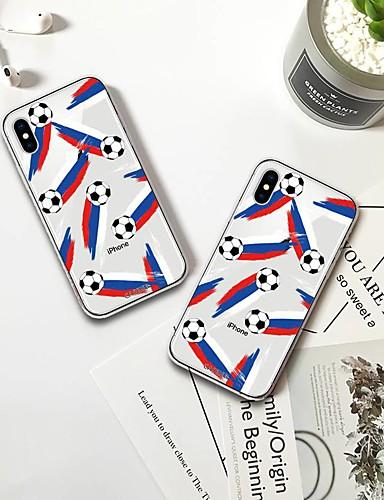 Apple iphone x / iphone 7/8 artı su geçirmez / toz geçirmez / desen arka kapak karikatür yumuşak tpu / dünya kupası serisi moda kabuk telefon kılıfı için iphone 5/5 s / se / 6/6 s / iphone 6/6 s artı