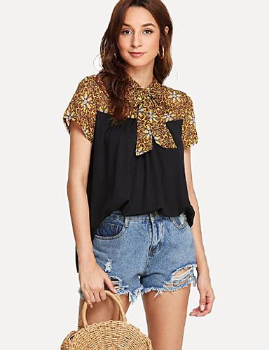 billige Dametopper-T-skjorte Dame - Galakse, Blondér / Lapper Grunnleggende Svart