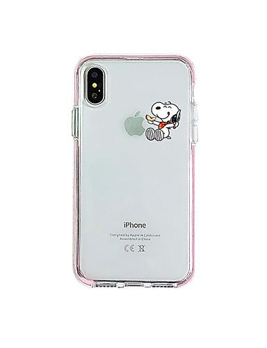 Pouzdro Uyumluluk Apple iPhone XR / iPhone XS Max / iPhone X Şoka Dayanıklı / Toz Geçirmez / Şeffaf Arka Kapak Karton TPU