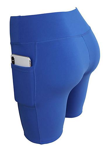 billige Tights til damer-Dame Grunnleggende Shorts Bukser - Ensfarget Blå Rød S M L