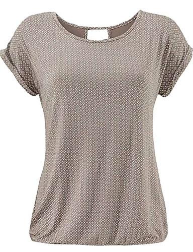 abordables Hauts pour Femmes-Tee-shirt Femme, Bloc de Couleur Noir
