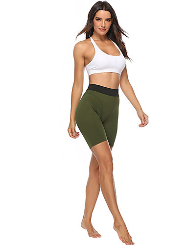 abordables Pantalons Femme-Femme Basique Short Pantalon - Couleur Pleine Noir Lavande Vert S M L
