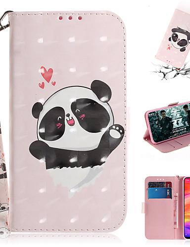 Pouzdro Uyumluluk Xiaomi Xiaomi Redmi Note 6 / Xiaomi Pocophone F1 / Xiaomi Redmi 6 Pro Cüzdan / Kart Tutucu / Şoka Dayanıklı Tam Kaplama Kılıf Kedi PU Deri