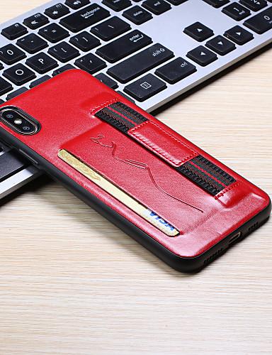 Pouzdro Uyumluluk Apple iPhone XS / iPhone XR / iPhone XS Max Kart Tutucu Arka Kapak Solid PU Deri
