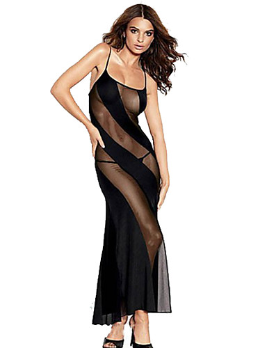 povoljno Moderni donji veš-Žene Čipka Veći konfekcijski brojevi Sexy Potkošulja / ogrtač Noćno rublje Vez Crn XXXXL XXXXXL XXXXXXL / S naramenicama