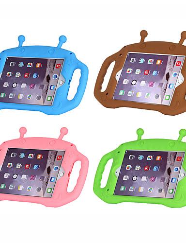 Pouzdro Uyumluluk Apple iPad Mini 5 / iPad Mini 3/2/1 / iPad Mini 4 Şoka Dayanıklı / Çocuk Güvenli Kasa Arka Kapak Solid / 3D Karikatür Silika Jel