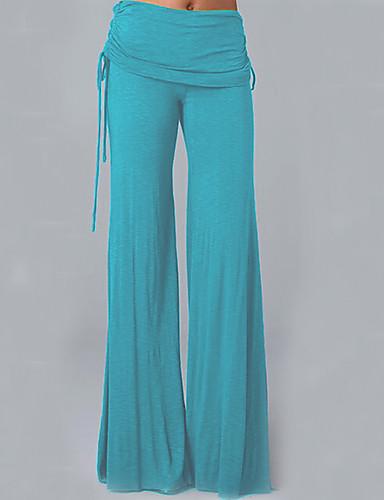 abordables Pantalons Femme-Femme Basique Ample / Chino Pantalon - Couleur Pleine Mosaïque Violet Jaune Bleu clair XXL XXXL XXXXL