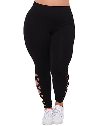 povoljno Ženske hlače i suknje-Žene Osnovni Sportske hlače Hlače - Jednobojni Crn Navy Plava XL XXL XXXL