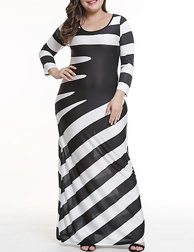Kadın's Kılıf Elbise - Zıt Renkli Maksi