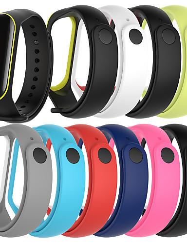 Watch Band için Mi Band 3 / Xiaomi Band 4 Xiaomi Spor Bantları Silikon Bilek Askısı