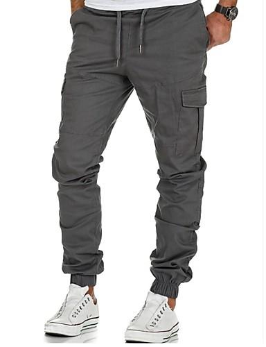 Erkek Temel Chinos Pantolon - Solid Klasik Siyah Ordu Yeşili Koyu Mavi US32 / UK32 / EU40 US34 / UK34 / EU42 US38 / UK38 / EU46