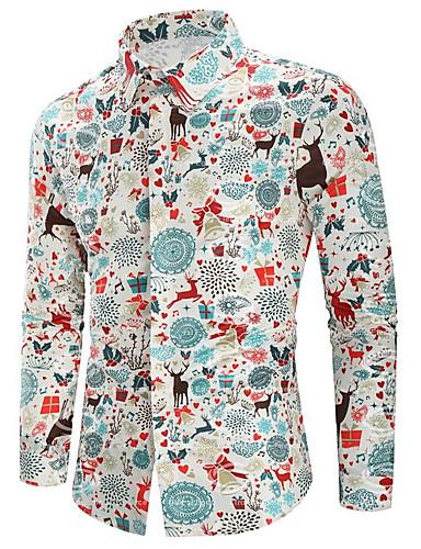 voordelige Heren T-shirts & tanktops-Heren Print T-shirt dier Fantastic Beasts Wit