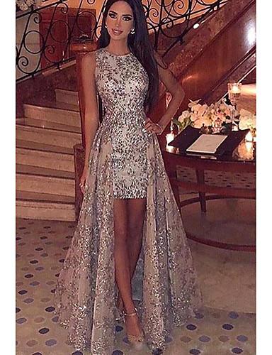 voordelige Maxi-jurken-Dames Elegant & Luxe Bodycon Jurk - Lace Printing, Pailletten Maxi / Slank