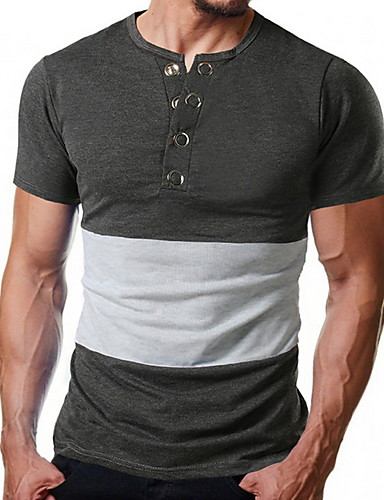 Erkek Tişört Zıt Renkli Siyah