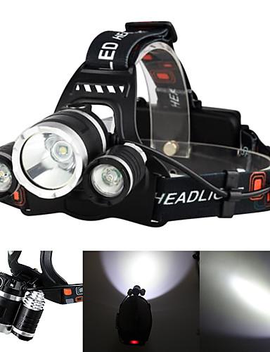 povoljno Vanjske baterije i više-Boruit® RJ-3000 Svjetiljke za glavu Svjetlo za bicikle Može se puniti 3000/5000 lm LED LED 3 emiteri 4.0 rasvjeta mode s punjačem Može se puniti štrajk oštrica Kampiranje / planinarenje