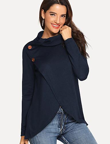 abordables Hauts pour Femme-Tee-shirt Femme, Couleur Pleine Mosaïque Basique Noir