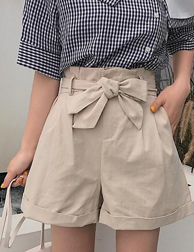 billige Tights til damer-Dame Grunnleggende Shorts Bukser - Ensfarget Svart Kakifarget En Størrelse