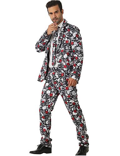 Erkek Suit Çentik Yaka Polyester Beyaz US36 / UK36 / EU44 / US38 / UK38 / EU46 / US40 / UK40 / EU48