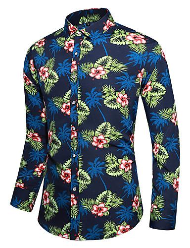 Erkek Gömlek Desen, Çiçekli Tropikal yaprak Yonca
