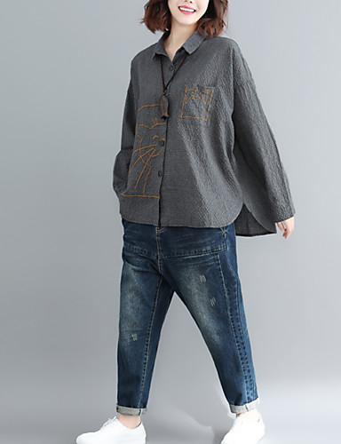 billige Dametopper-Skjorte Dame - Tegneserie, Lapper Gatemote Lilla