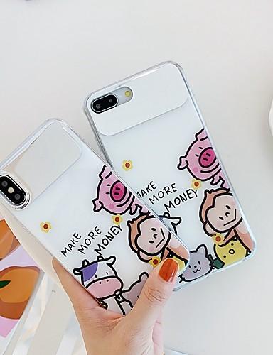 Pouzdro Uyumluluk Apple iPhone XS / iPhone XR / iPhone XS Max Şoka Dayanıklı / Ayna / Temalı Arka Kapak Hayvan / Karton TPU