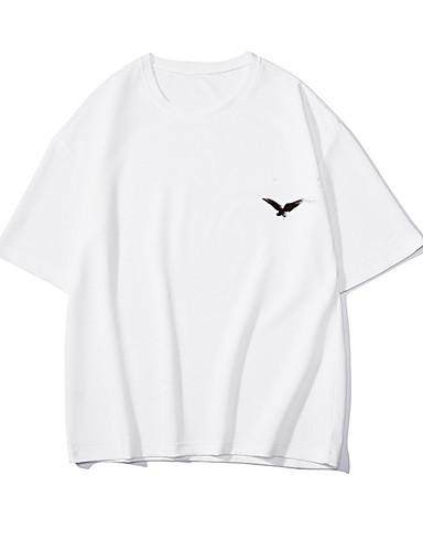 Erkek Tişört Desen, Hayvan Temel Siyah ve Beyaz Beyaz