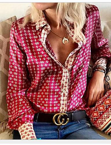 abordables Camisas para Mujer-Mujer Camisa Geométrico Morado