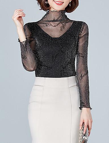 billige Dametopper-T-skjorte Dame - Tegneserie, Lapper Grunnleggende Svart