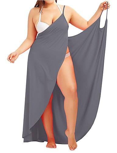 hesapli Kadın Elbiseleri-Kadın's Temel Çan Elbise - Solid, Arkasız Haç Desenli Bağcık Maksi