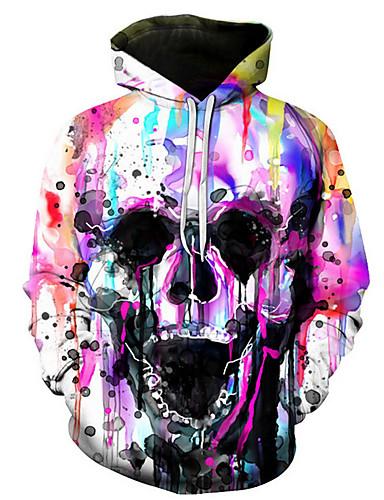 cheap 9/18-Men's Casual Hoodie - Skull Rainbow US36 / UK36 / EU44