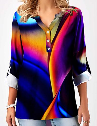 povoljno Ženske majice-Bluza Žene - Osnovni Dnevno Duga V izrez Duga