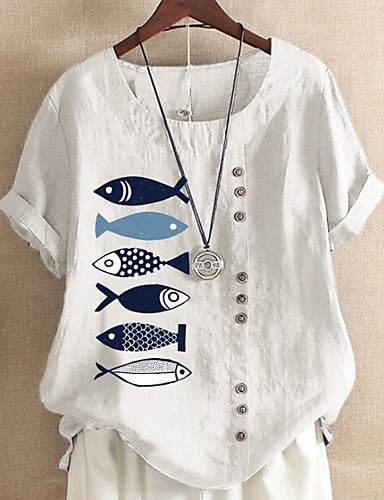 povoljno Majica s rukavima-Majica s rukavima Žene Dnevno Životinja Svjetloplav