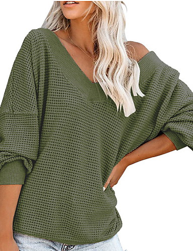 billige Overdele til damer-Dame - Ensfarvet Basale T-shirt Sort