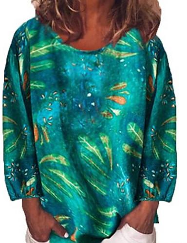 billige Topper til damer-T-skjorte Dame - Dyr Gul