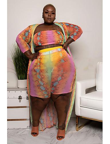 voordelige Maxi-jurken-Dames Street chic Elegant Schede Wijd uitlopend Jurk - Polka dot Bloemen Geometrisch, Print Maxi Fantastic Beasts