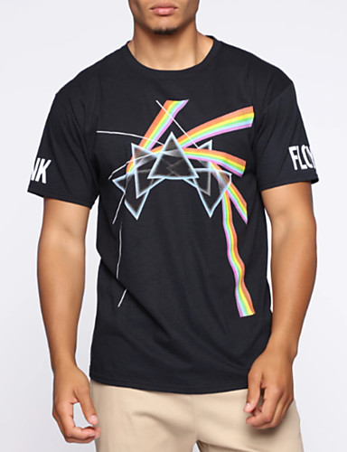 cheap Pre Sale-Men's Daily Basic T-shirt - Geometric Black
