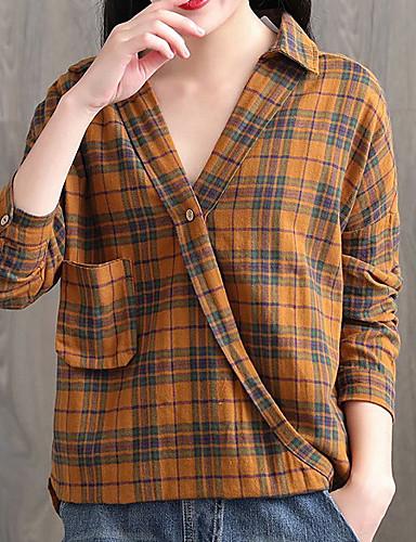 billige Dametopper-Skjorte Dame - Stripet, Lapper Gatemote Gul