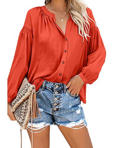 billige Dametopper-Skjorte Dame - Ensfarget, Flettet Grunnleggende Svart