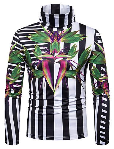 voordelige Heren T-shirts & tanktops-Heren Print T-shirt Grafisch Regenboog