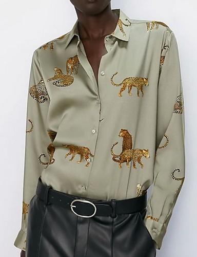 billige Dametopper-Skjorte Dame - Dyr Grønn