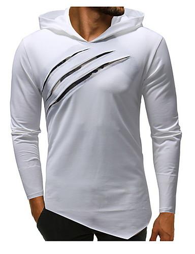 voordelige Heren T-shirts & tanktops-Heren T-shirt Effen Zwart