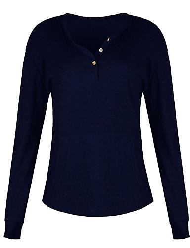 billige Topper til damer-T-skjorte Dame - Ensfarget Gatemote Svart