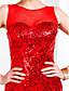 baratos Vestidos de Noite-Justo & Evasê Bateau Neck Cauda Corte Organza Paetês Baile de Formatura / Evento Formal Vestido com Lantejoulas de TS Couture®