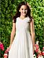 hesapli Çocuk Nedime Elbiseleri-Sütun V Yaka Bilek Boyu Şifon Drape Haç ile Çocuk Nedime Elbisesi tarafından LAN TING BRIDE®