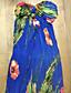 levne Dámské šaty-TS-Casual Print Halter Beach Maxi šaty (Print Náhodné)