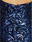 ieftine Rochii de Seară-Trompetă / Sirenă In Formă de Inimă Trenă Court Paiete Strălucitor & Sclipitor / Spate Deschis / Stil Vedetă Seară Formală Rochie cu Paiete de TS Couture®