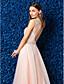 ieftine Rochii de Banchet-Linia -A Bijuterie Lungime Podea Tulle Bal Gală Elegantă Rochie cu Mărgele de TS Couture®